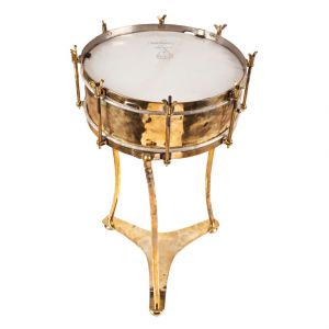 Brass Drum on Custom Stand - FTD2017-2