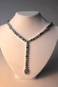 multi stone necklace  (JN00051)