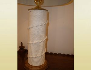 Cotton rope work table lamp (NR00019)