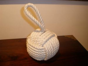 100% cotton monkey's fist door stop (NR00021)